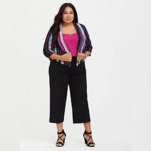 Torrid culotte cropped black career work pants 18
